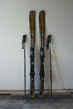 """Pair of Atomic Beta Pulse Skis with Bindings with Scott Pro Poles 62"""""""
