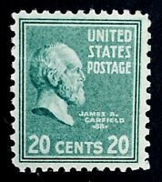 US Stamps, Scott #825 20c single VF/XF M/NH. Fresh. '39 Pres Issue. Minor bend.