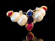 Runde Echtschmuck-Broschen & -Anstecknadeln aus mehrfarbigem Gold für Damen