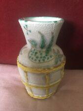 Mid 20th Century Italian Art Pottery Vase With Bird and Foliate Decoration