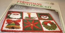 Christmas Patchwork Holiday Rug Latch Hook / Hooking Kit Santa Claus Snowman