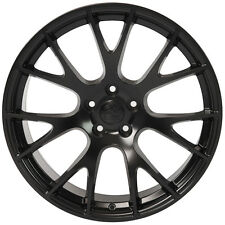 "20"" Hellcat Style Black Wheels For Dodge Charger SRT8 Challenger Chrysler 300"