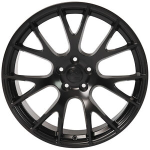 20x9 Hellcat Style Black Wheels Fit Dodge Charger SRT8 Challenger Chrysler 300