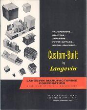Langevin Manufacturing Corp Brochure 'Custom-built by Langevin'