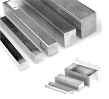Aluminium solid square bar. Block. 12 Sizes. 100mm Lengths. Solid. 6082-T6..