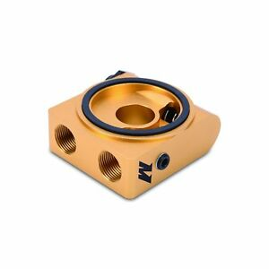 Mishimoto MMOP-SPTR Mishimoto Oil Sandwich Plate with Rear-Mounted Thermostat