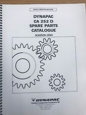 Dynapac CA 252 D PARTS MANUAL BOOK CATALOG FREE PRIORITY SHIP