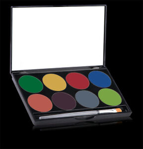 NEW - Mehron - Paradise AQ 8-Color Makeup Palette - Basic -  FREE SHIPPING