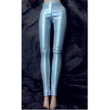 Silver leather pants stocking tights for tonner 16 inch dolls
