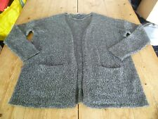 Gorgeous VERO MODA Grey & White Flecked Longline Pocket Detail CARDIGAN, Medium