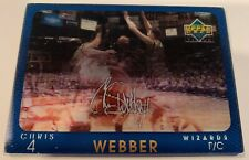 CHRIS WEBBER 1997 Upper Deck Diamond Vision  Signature Move parallel Wizards