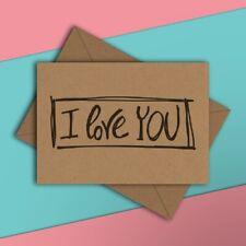 I Love You - Cute Birthday Greetings Card - Girlfriend Boyfriend Wife Husband
