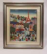 Dipinto Naif Tour Eiffel, acrilics on Canvas - Acryliques sur Toile Paris France