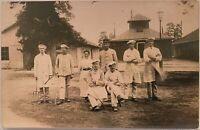 Real Photo Postcard RPPC Servants In Uniform Some With Garden Implements NORWAY