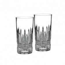 Waterford Crystal Lismore Diamond HiBall Bar Glass Set of Two Pair (2) New