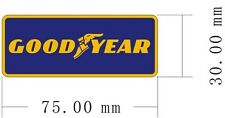 PAIR of Goodyear peel-off vinyl stickers / decals (ff)