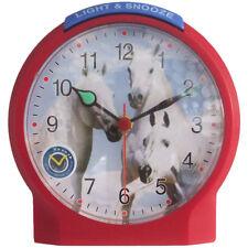 Atlanta 1189/1 Wecker Kinderwecker Pferd rot leise Pferdewecker für Kinder.