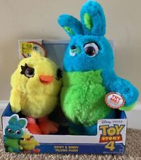 "Disney Pixar Toy Story 4 Talking Ducky & Bunny Plush 9"" Toys"