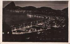 Postcard RPPC Praca Paris at Night Rio de Janeiro Brazil