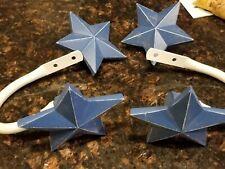Pottery Barn Kids Blue Stars Finials and Tie Backs