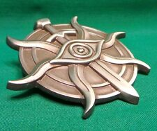 """Dragon Age Inquisition Badge of the Inquisitor Deluxe Pin (Silver 2.5"""") *Sealed*"""