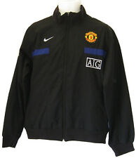 NEW Vintage Nike Manchester United Football Club Tuta giacca nero XL