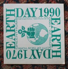 Large Original 1990 Earth Day Sticker Unpeeled NYC 8 1/2""