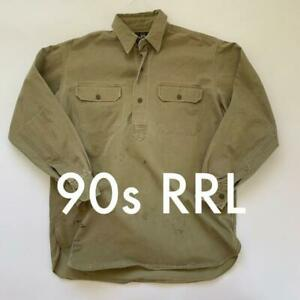 RRL Paint Pullover Shirt Tops Cotton 3 Star Tag Men L 90's Vintage From Japan