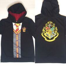 Girls M 7/8 Harry Potter Hogwarts Long Sleeve Hooded Sweatshirt - Black