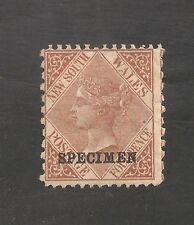 New South Wales #55b (Sg #214ba) Fvf - 1871 4p Victoria Specimen - Scv $175.00
