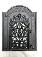 Antike Warmhaltefront Ofenplatte mit Tür Ofentür vom Gussofen Gründerzeit