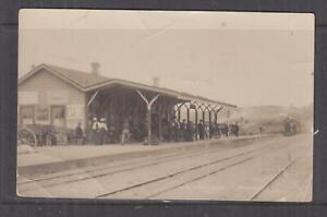 NEW ZEALAND, PAHIATUA RAILWAY STATION, TRAIN, real photo ppc., c1920 unused.