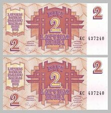 Lettland / Latvia 2 Rubli 1992 p36 unz.