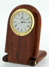 Folding Rosewood Small Desk Clock