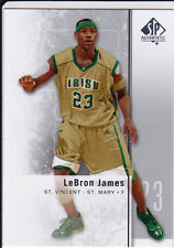 LEBRON JAMES Irish St. Vincent HIGH SCHOOL JERSEY Basketball Card AUTHENTIC SP!