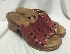 Dansko Clarissa Floral Sandals Cutouts Leather Slip On Women's 6/36 Wedge Heels
