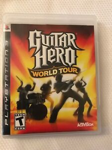 Sony PLAYSTATION 3 PS3 Guitar Hero World Tour Game Disc with Case