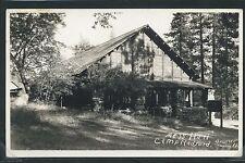 CA Angelus Oaks RPPC c.30 MESS HALL at CAMP RADFORD San Bernadino Co. by Bruner