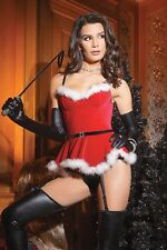 Santa Holiday Bustier With Garters