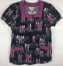 b2790b92a20 White Cross Black Patterned Scrub Tops for sale | eBay