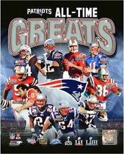 New England Patriots All-Time Greats 8X10 Team Composite Photo