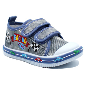 KIDS BABY Boys canvas shoes trainers sneakers 4 UK Leather insole PUMPS BOX