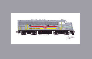 "Family Lines Clinchfield F3 #800 11""x17"" Matted Print Andy Fletcher signed"