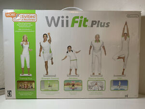 Nintendo Wii fit plus balance board slightly used in box with game