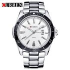 Luxury Sport Men's Man Stainless Steel Date Quartz Analog Black Dial Wrist Watch