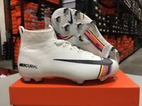 Nike Junior Mercurial Superfly 6 Elite FG Cleats (White/Black) Size: 4-6 Y NEW!