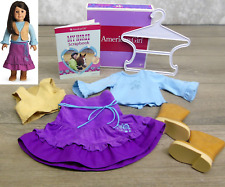 American Girl Doll RUSTIC RANCH OUTFIT Western Horse Riding Boots Vest Book BOX!