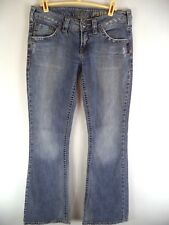 Silver Pioneer Jeans Womens 28 Boot Cut Flap Pocket Light Wash Distressed Blue