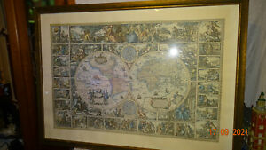 Alter - Weltkarten - Druck - ca. 79 x 110 cm