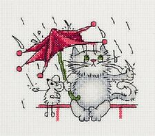 Cross Stitch Kit Rain (cat) art. 8-223